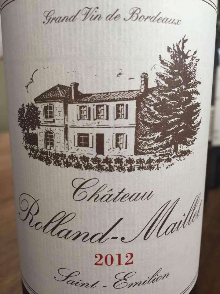 Château Rolland-Maillet 2012 – Saint-Emilion