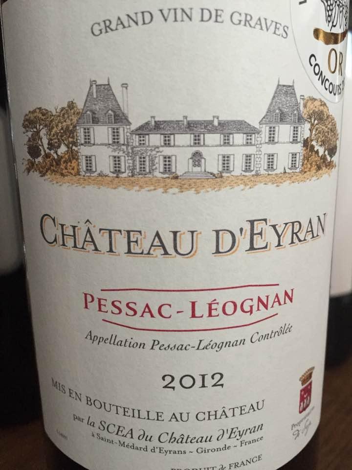 Château d'Eyran 2012 – Pessac-Léognan
