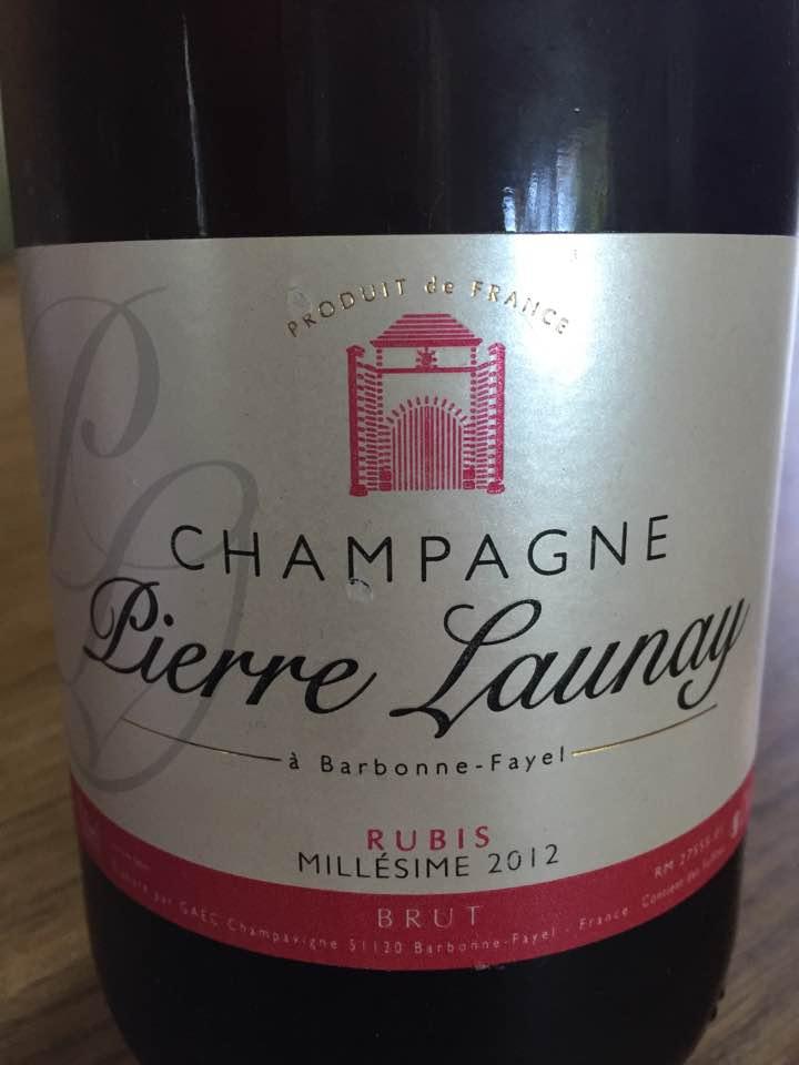 Champagne Pierre Launay – Rubis Millésime 2012 – Brut