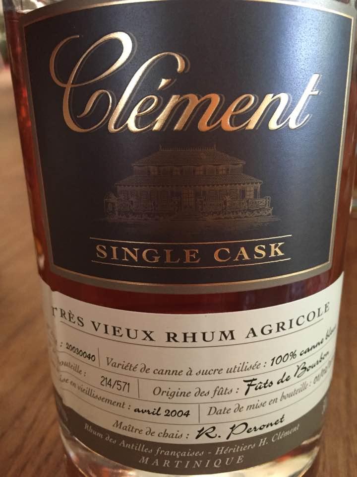 Clément – Single Cask – Édition Limitée – Très Vieux Rhum Agricole – Martinique