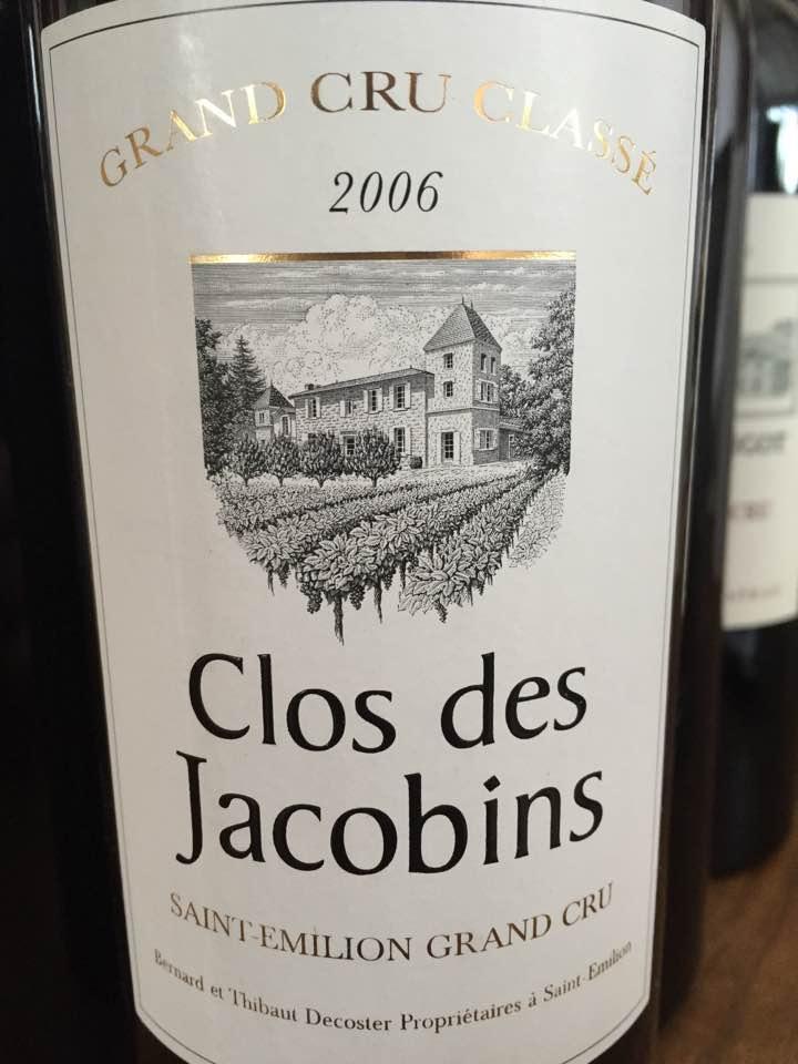 Clos des Jacobins 2006 – Saint-Emilion Grand Cru Classé