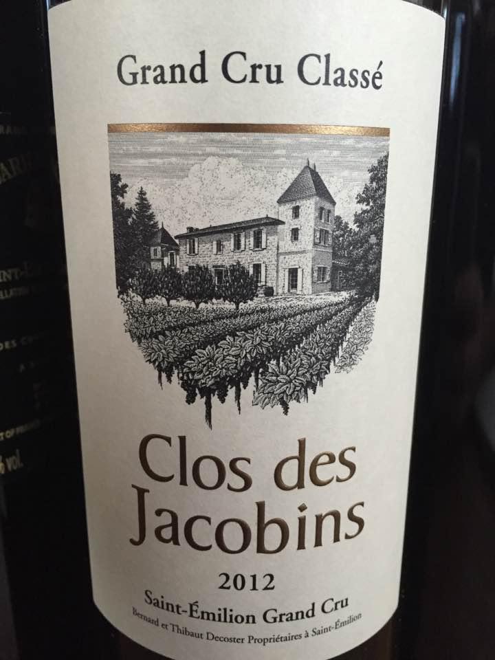 Clos des Jacobins 2012 – Saint-Emilion Grand Cru Classé