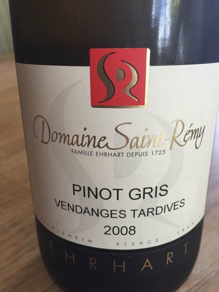 Domaine Saint-Rémy – Pinot Gris 2008 Vendanges Tardives – Alsace