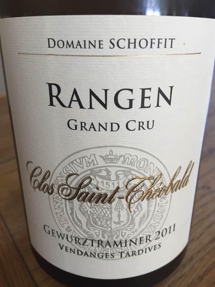 Domaine Schoffit – Clos Saint-Théobald – Gewurztraminer 2011 Vendanges Tardives – Rangen Grand Cru – Alsace
