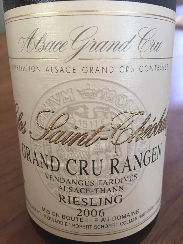 Domaine Schoffit – Clos Saint-Théobald – Riesling 2006 – Vendanges Tardives – Grand Cru Rangen – Alsace-Than