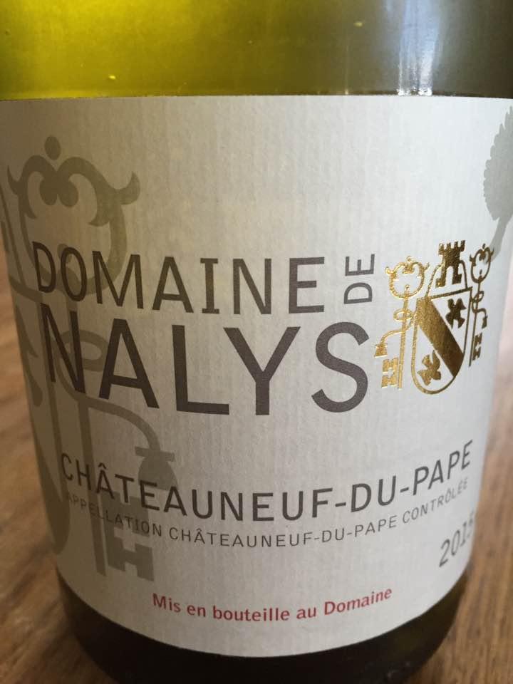 Domaine de Nalys 2015 – Chateauneuf-du-Pape (blanc)