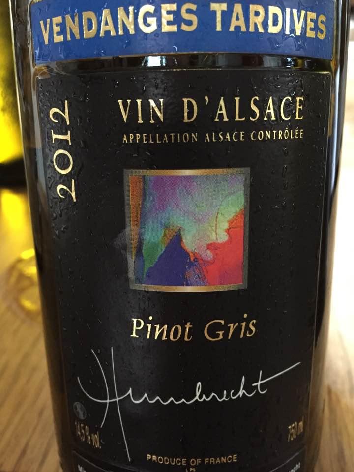 Humbrecht – Pinot Gris 2012 – Vendanges Tardives – Alsace