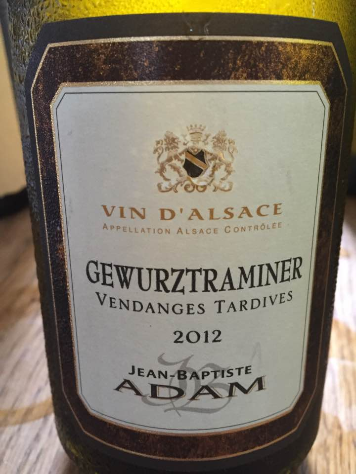 Jean-Baptiste Adam – Gewurztraminer 2012 – Vendanges Tardives – Alsace