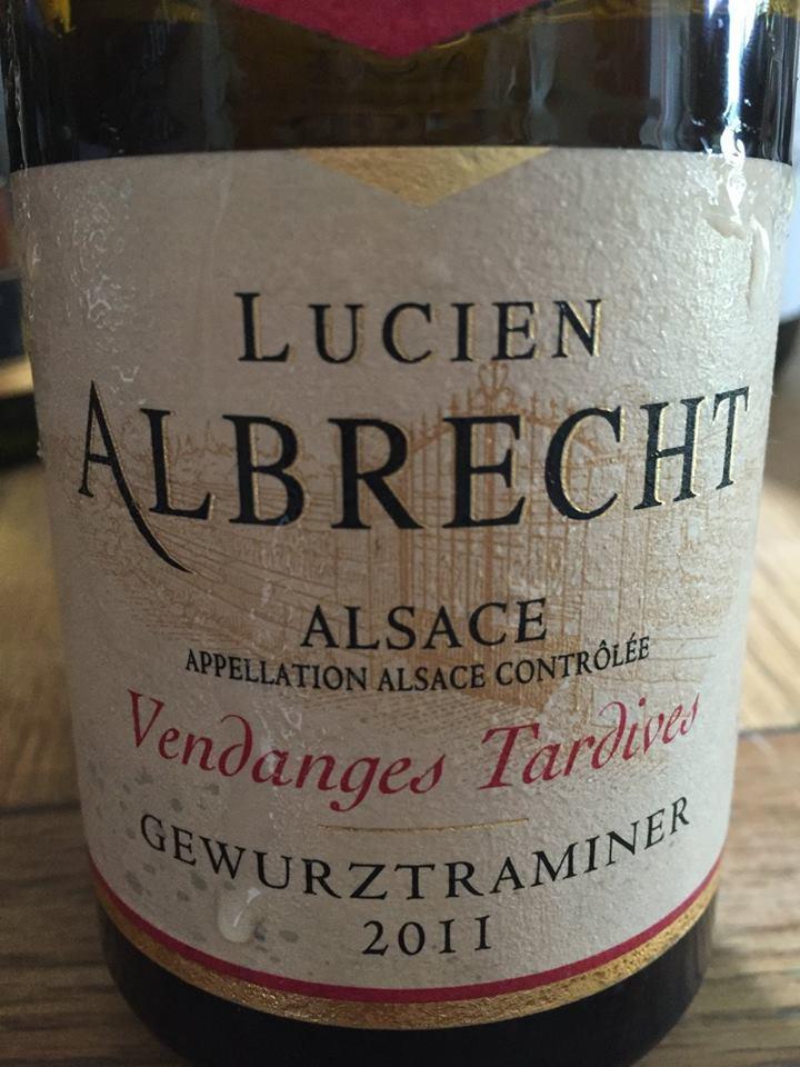 Lucien Albrecht – Gewurztraminer 2011 – Vendanges Tardives – Alsace