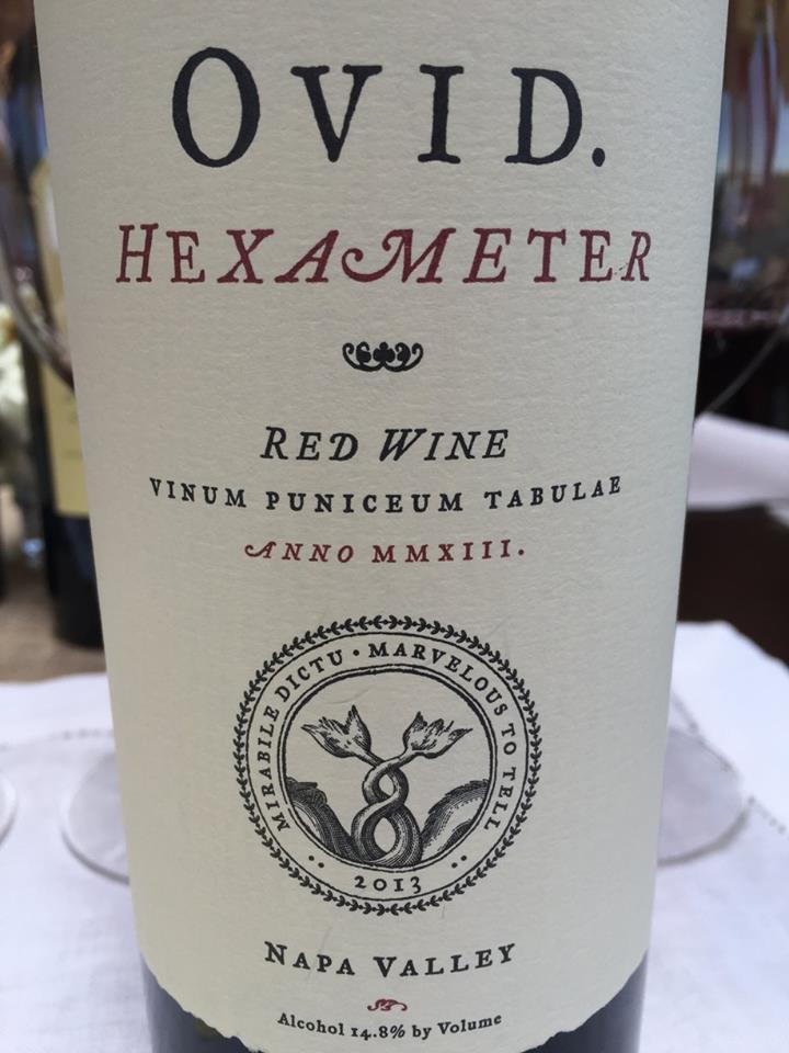 OVID Hexameter 2013 – Napa Valley