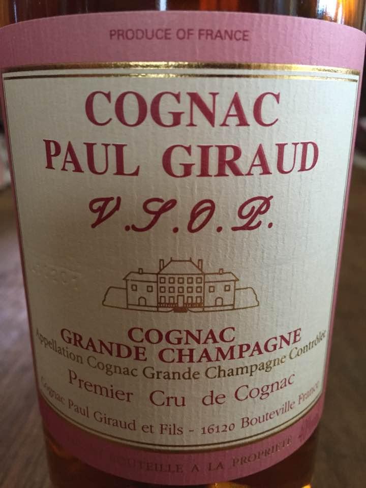Paul Giraud – Grande Champagne – 1er Cru de Cognac – V.S.O.P. – Cognac