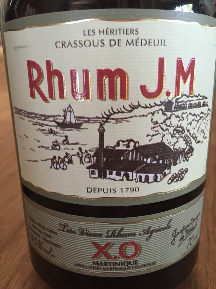 Rhum J. M – XO – Très Vieux Rhum Agricole – Martinique