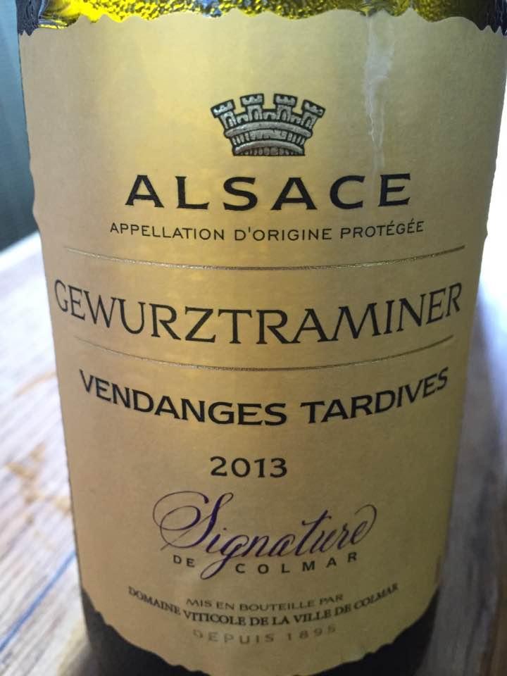 Signature de Colmar – Gewurztraminer 2013 – Vendanges Tardives – Alsace