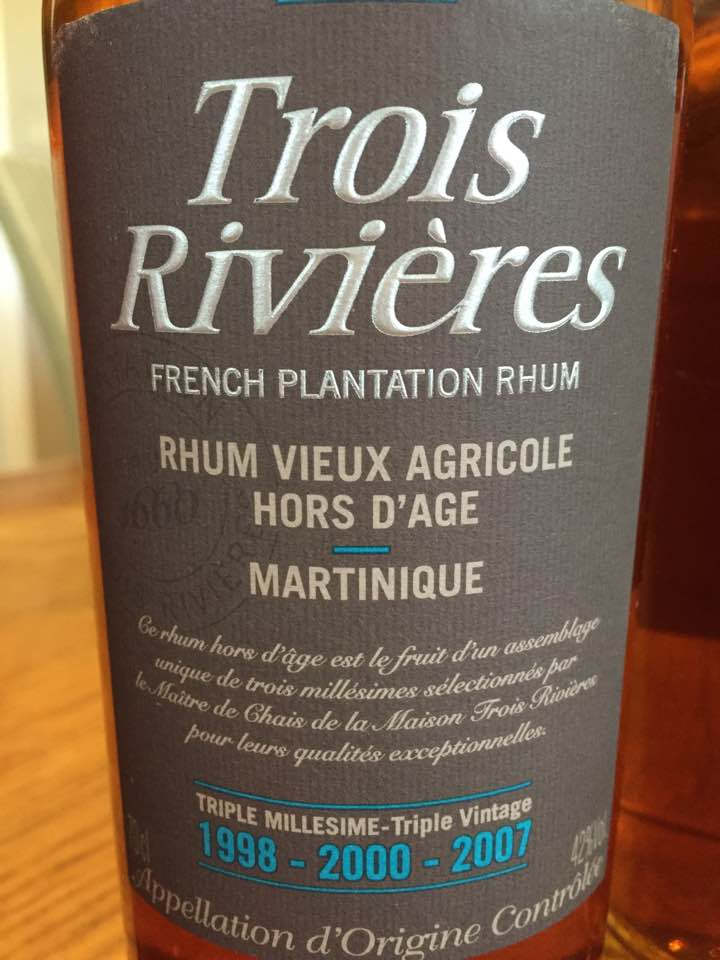 Trois Rivières – Rhum Vieux Agricole Hors d'Âge – Triple millésime 1998 – 2000 – 2007 – Martinique
