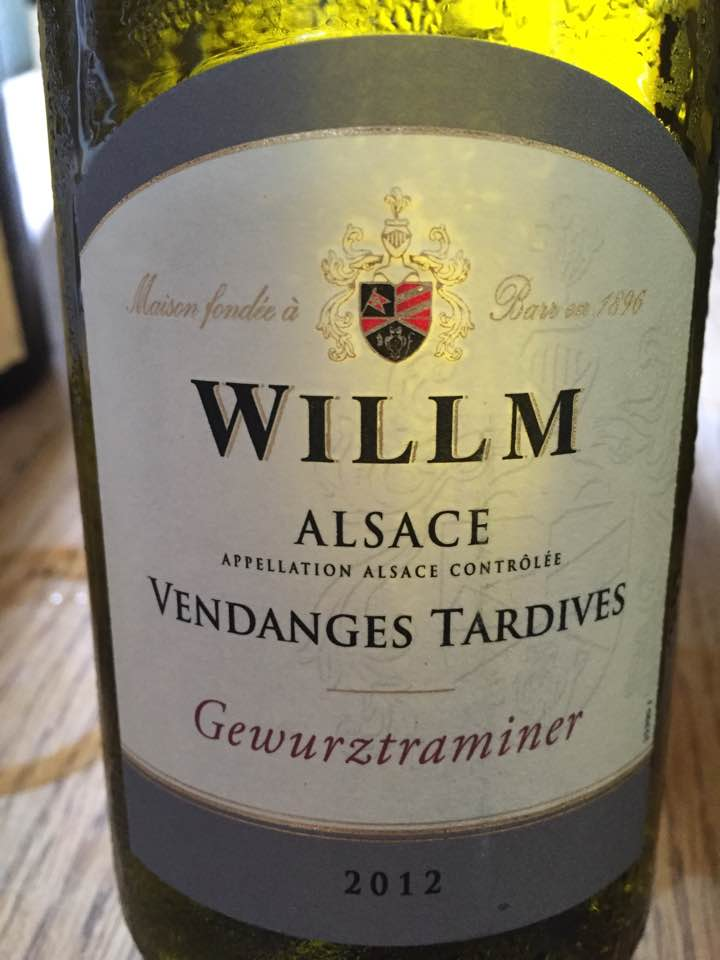 Willm – Gewurztraminer 2012 – Vendanges Tardives – Alsace