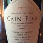 Cain Five 2011 – Spring Mountain District, Napa Valley