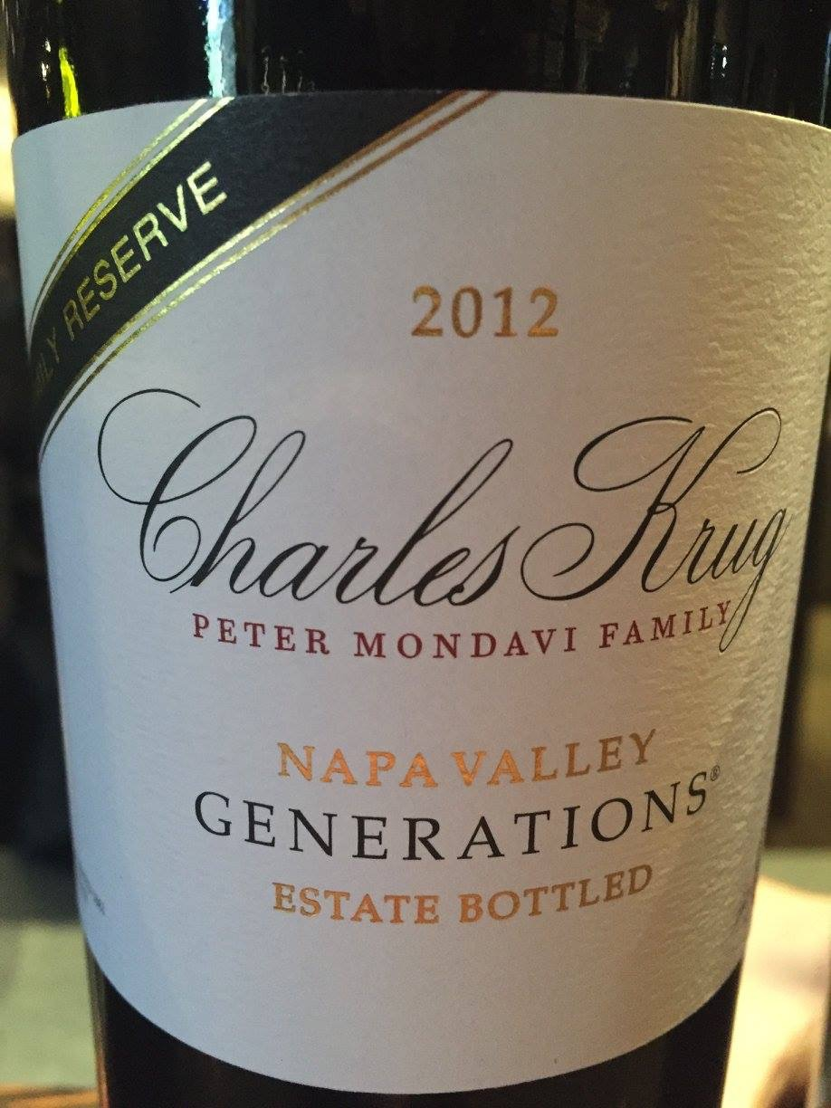 Charles Krug – Generations 2012 Family Reserve – Napa Valley