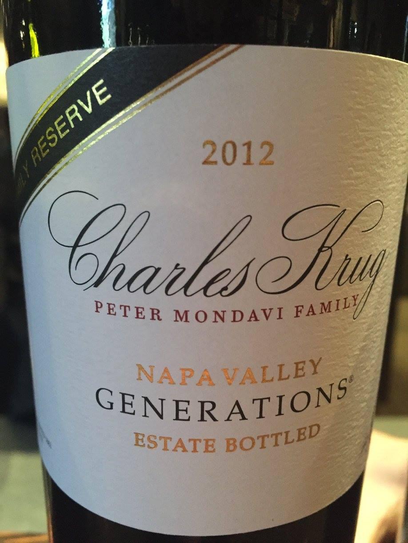 Charles Krug – Generations 2012 Family Reserve – Napa Valley