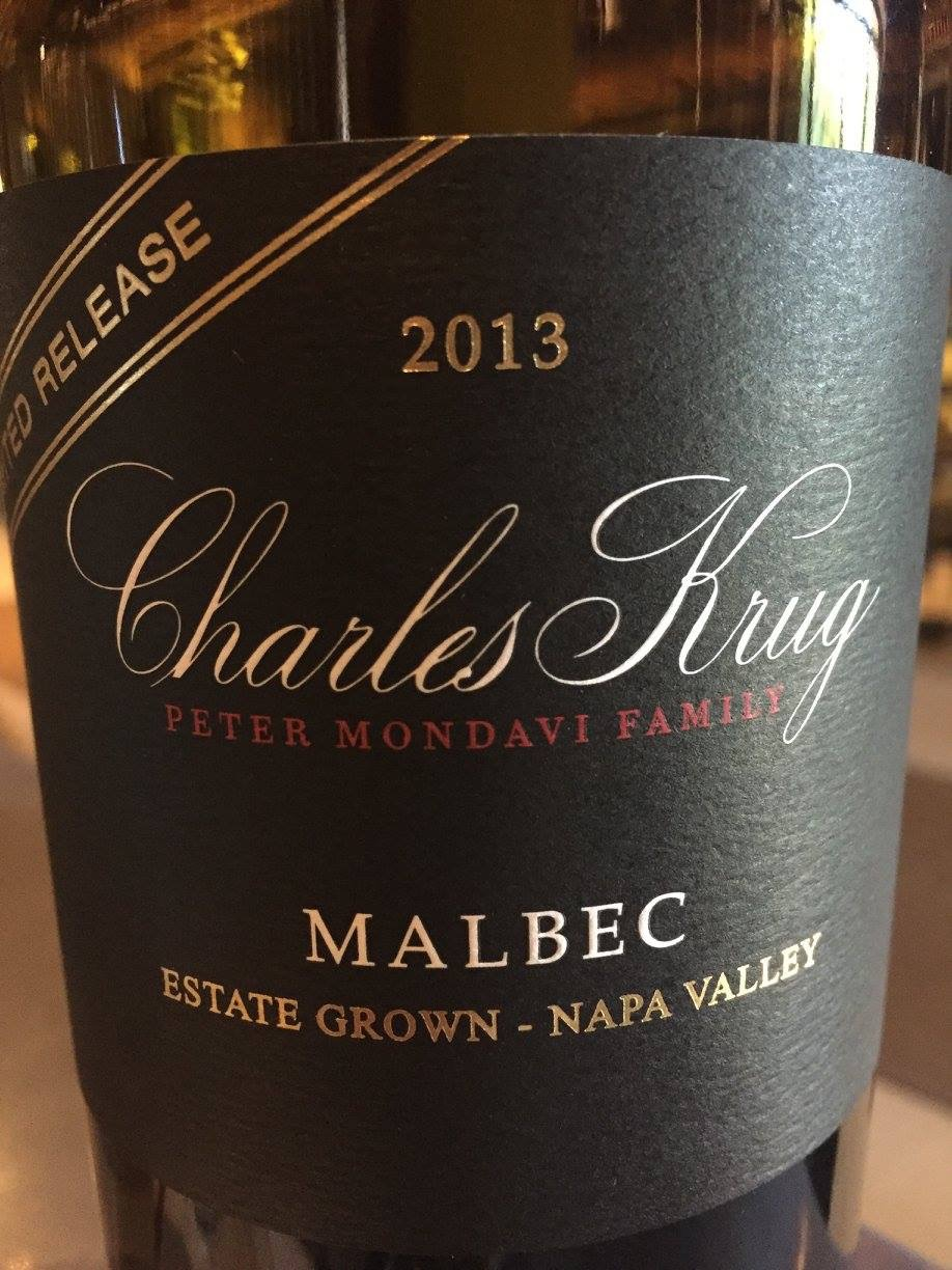 Charles Krug – Malbec 2013 Limited Release – Estate Grown – Napa Valley