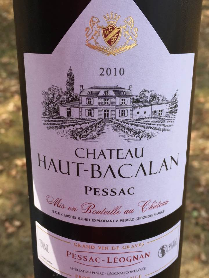 Château Haut-Bacalan 2010 – Pessac-Léognan