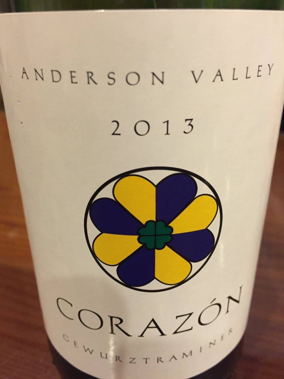 Corazon – Gewurztraminer 2013 – Anderson Valley