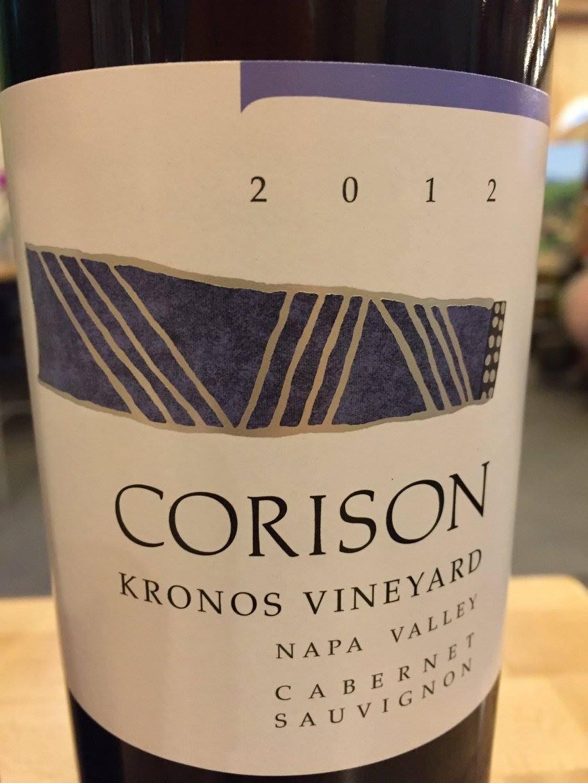 Corison – Kronos Vineyard – Cabernet Sauvignon 2012 – Napa Valley