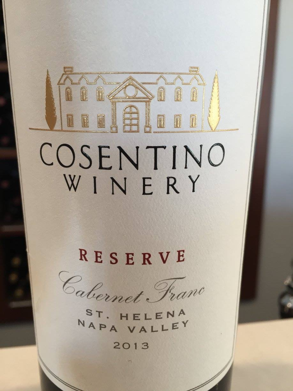 Cosentino – Cabernet Franc Reserve 2013 – St Helena – Napa Valley