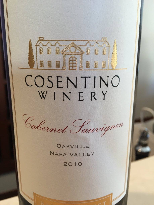 Cosentino – Cabernet Sauvignon 2010 – Oakville – Napa Valley