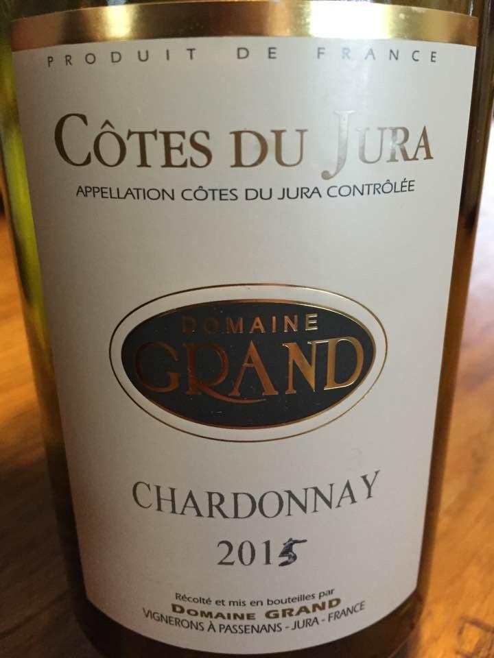 Domaine Grand – Chardonnay 2015 – Côtes Du Jura – Jura