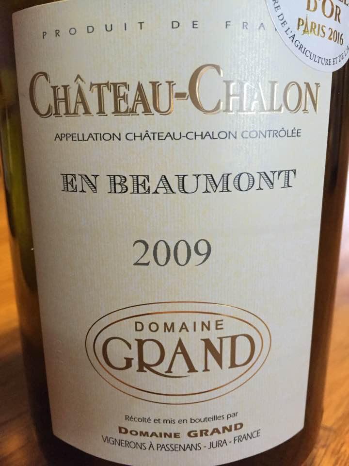 Domaine Grand – En Beaumont 2009 – Vin Jaune – Château-Chalon – Jura