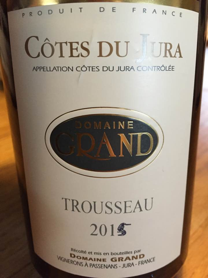Domaine Grand – Trousseau  2015 – Côtes Du Jura – Jura