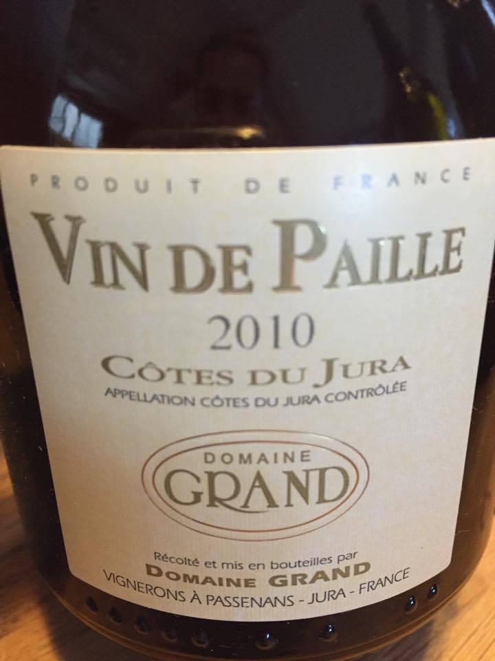 Domaine Grand – Vin de paille 2010 – Côtes Du Jura – Jura