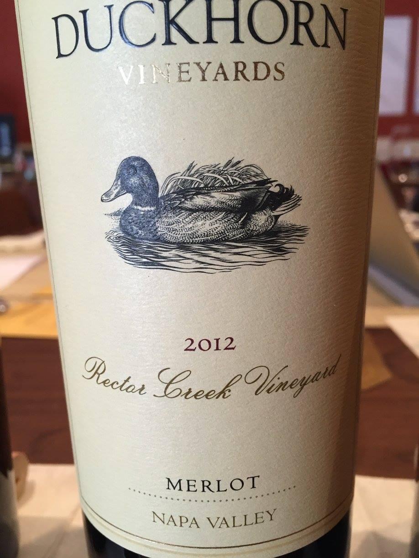 Duckhorn Vineyards – Rector Creek Vineyard Merlot 2012 – Napa Valley