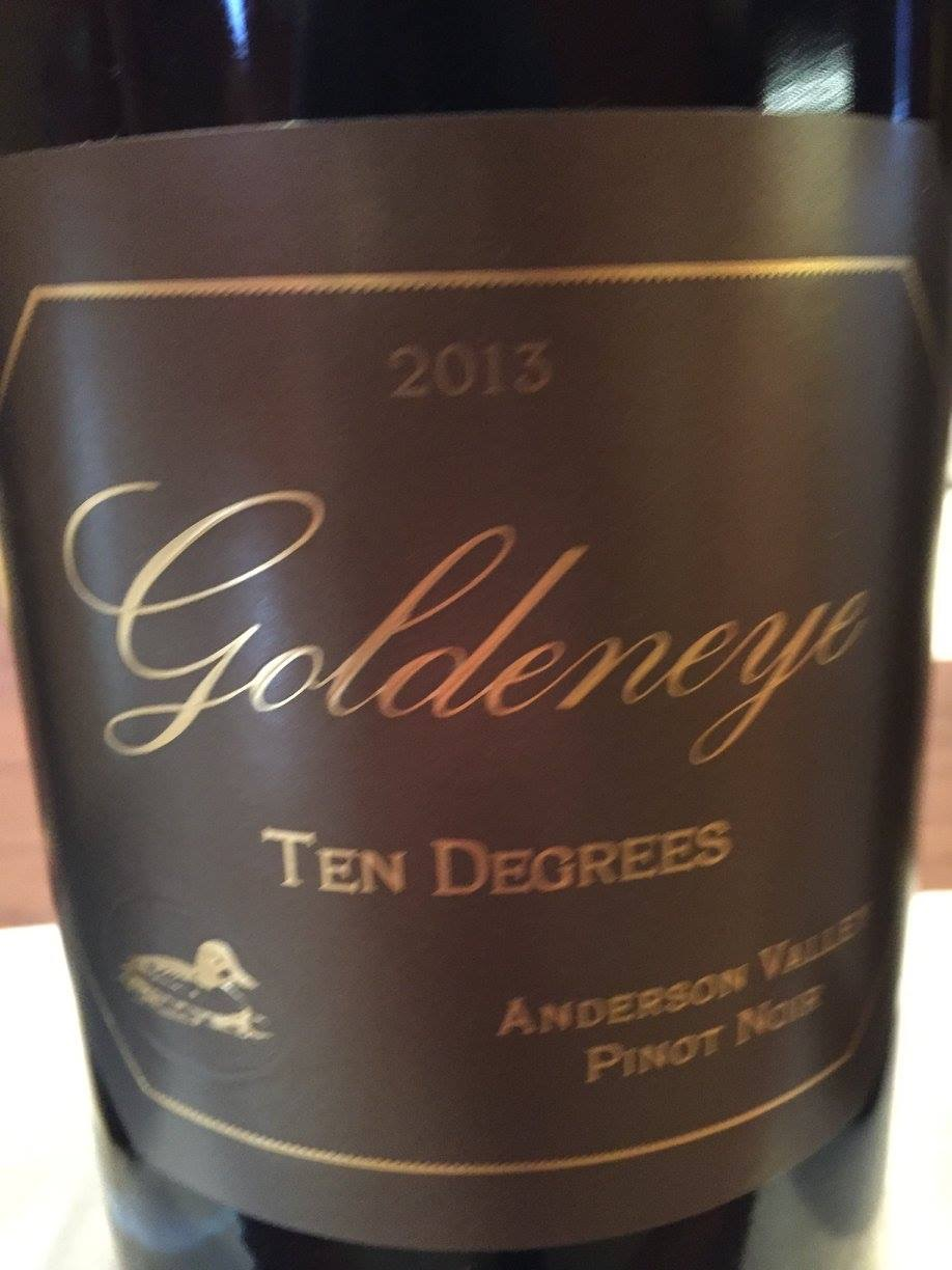 Goldeneye – Ten Degrees – Pinot Noir 2013 – Anderson Valley