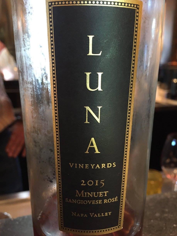 Luna Vineyards – Minuet Sangiovese Rosé 2015 – Napa Valley