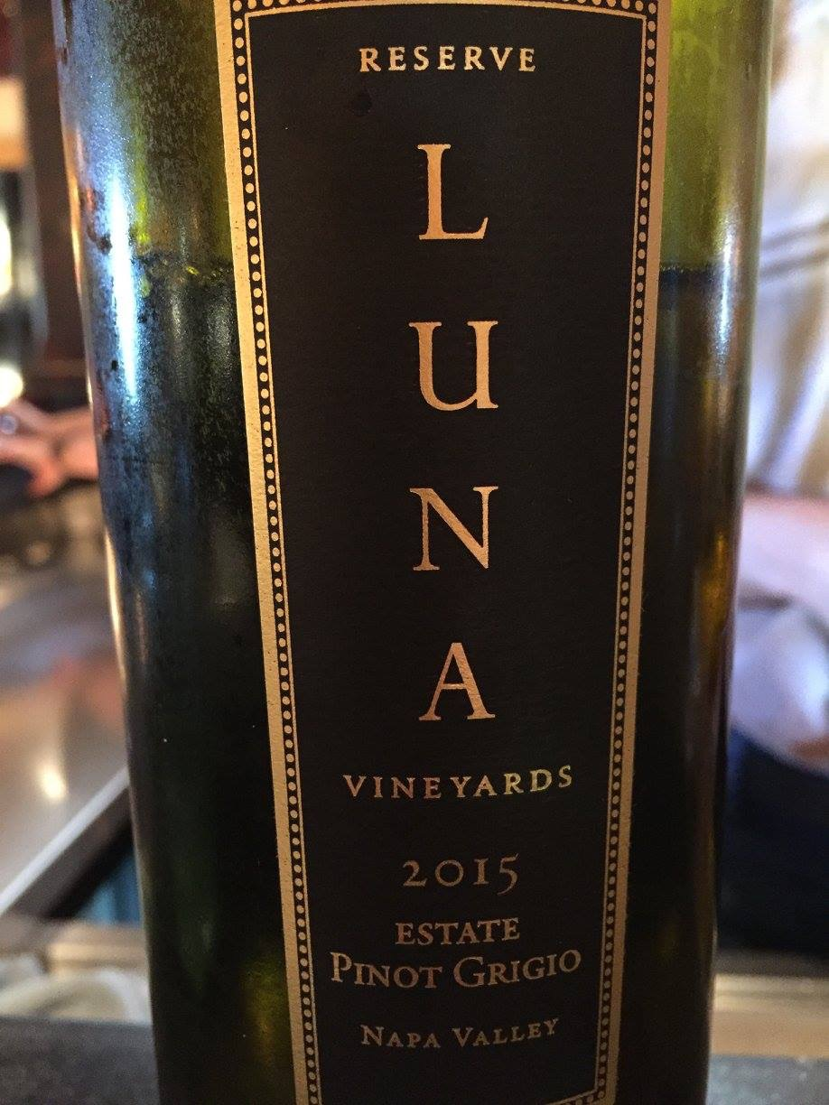 Luna Vineyards – Reserve Estate Pinot Grigio 2015 – Napa Valley
