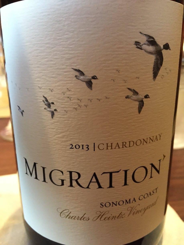 Migration – Chardonnay 2013 – Charles Heintz Vineyard – Sonoma Coast
