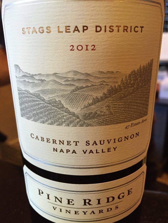 Pine Ridge – Stag Leaps Distict Cabernet Sauvignon 2012 – Napa Valley