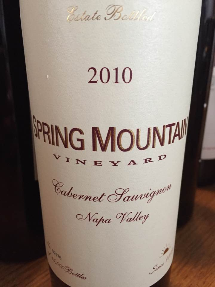 Spring Mountain Vineyard – Cabernet Sauvignon 2010 – Napa Valley