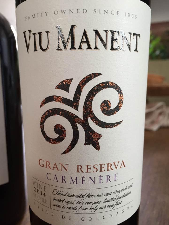 Viu Manent – Carménère Gran Reserva 2014 – Valle de Colchagua