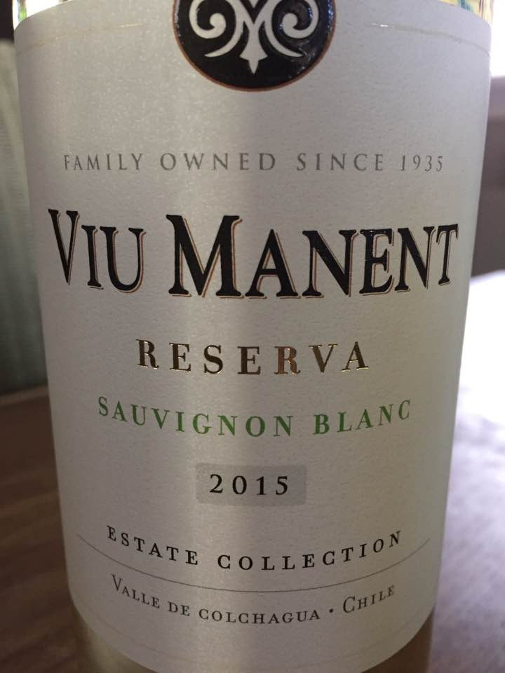Viu Manent – Reserva Sauvignon Blanc 2015 – Estate Collection – Valle de Colchagua – Chile