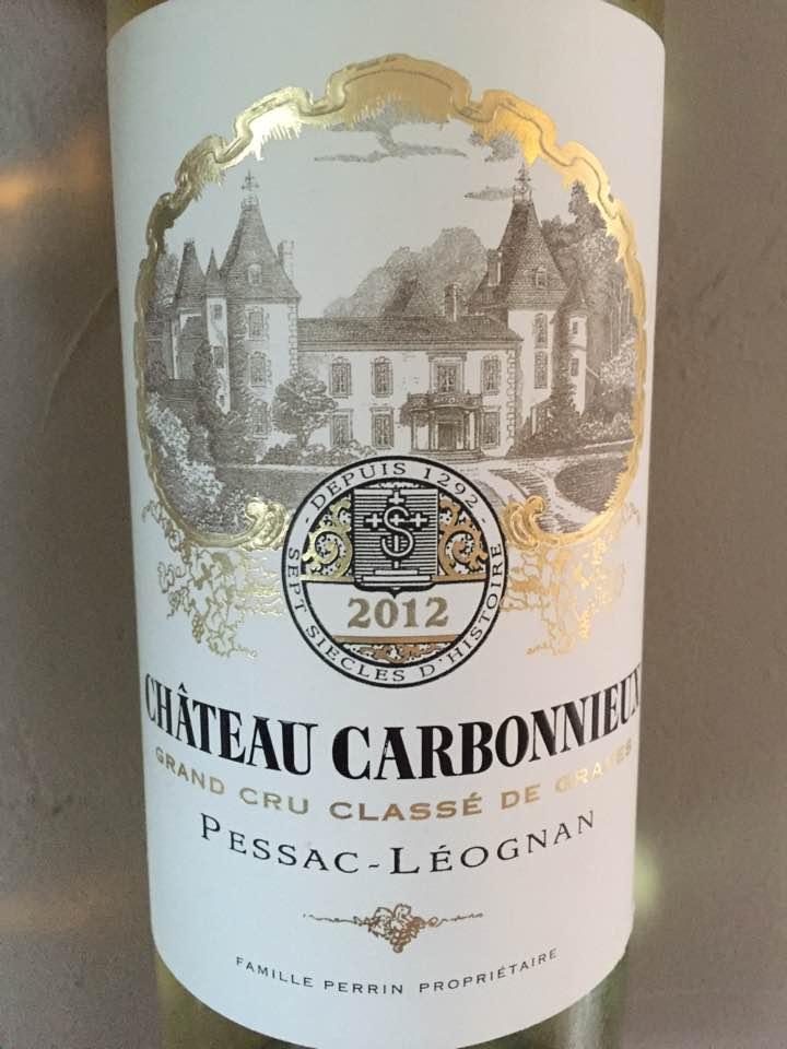 Château Carbonnieux 2012 – Grand Cru Classé de Graves, Pessac-Léognan (white)