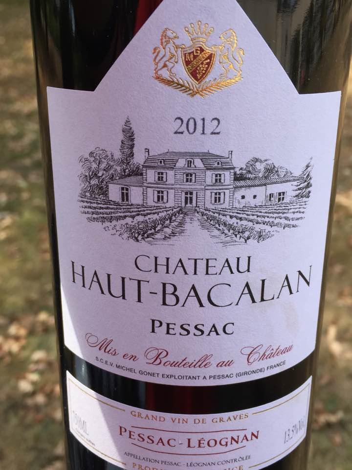 Château Haut-Bacalan 2012 – Pessac-Léognan