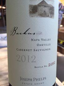 Joseph Phelps – Backus Vineyard Cabernet Sauvignon 2012 – Oakville – Napa Valley