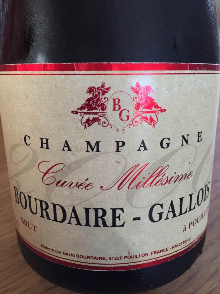 Champagne Bourdaire Gallois – Cuvée Millésime 2006 – Brut