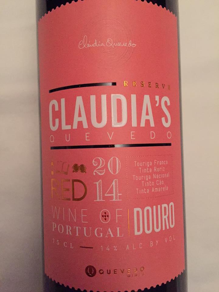 Claudia's Quevedo – Reserve 2014 – Douro
