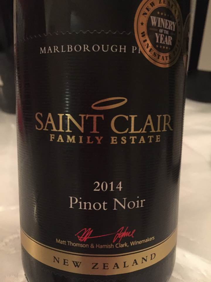 Saint Clair Family Estate – Pinot Noir 2014 – Marlborough – New Zealand