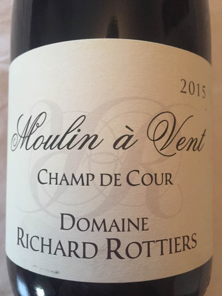 Domaine Richard Rottiers – Champ de Cour 2015 – Moulin à Vent