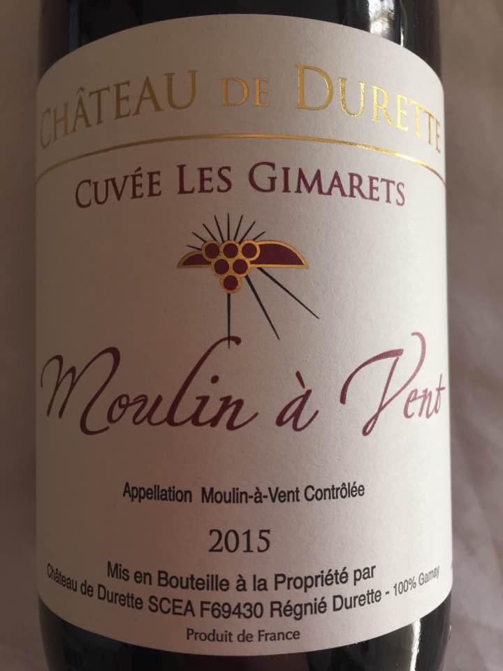 Château de Durette – Cuvée Les Gimarets 2015 – Moulin à Vent
