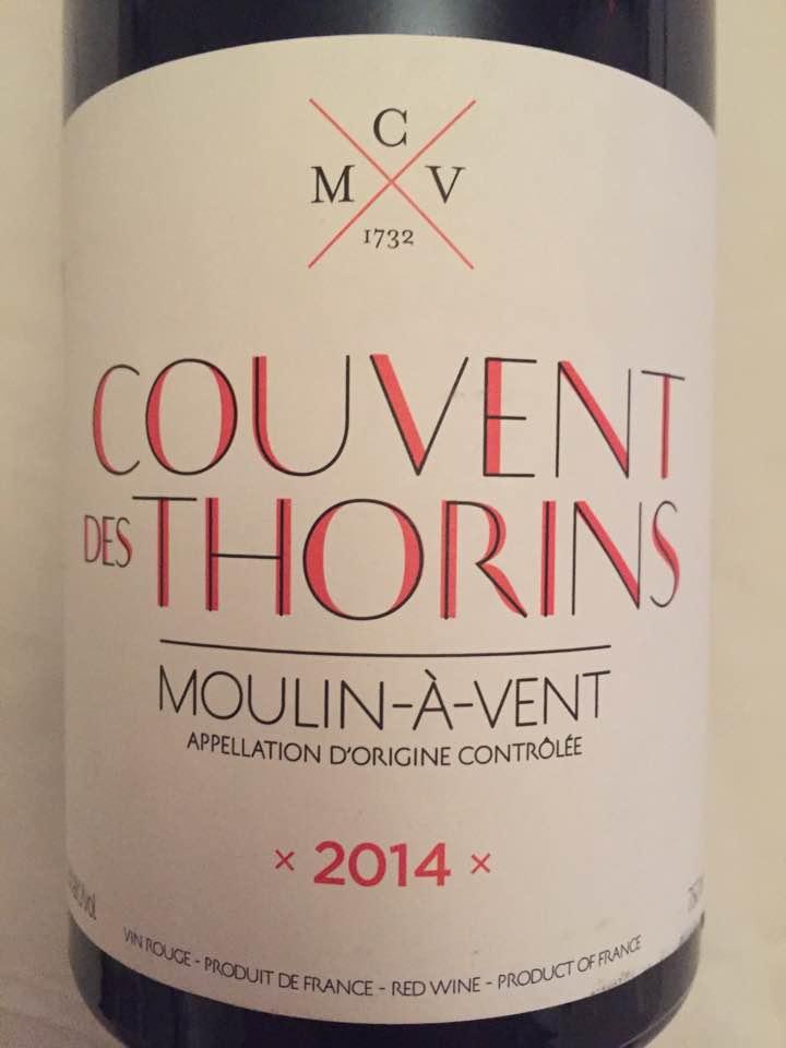 Couvent des Thorins 2014 – Moulin-à-Vent